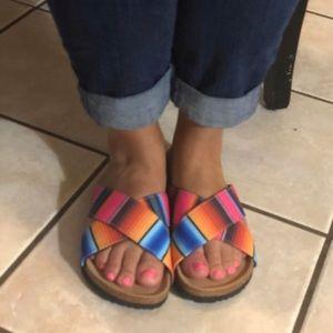 Serape sandals brand new